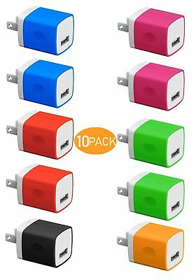 Boost Chargers 5W USB Power Adapter 10-Pack Wall Charger 1A Cube for Plug -