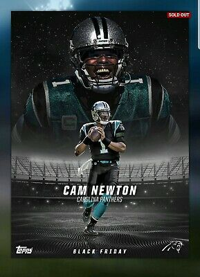 Topps HUDDLE Cam Newton BLACK FRIDAY 2018 EXCLUSIVE BUNDLE DIGITAL CARD