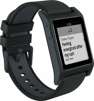 Pebble 2 HR Fitness Tracker Bluetooth Smartwatch for Android or iOS - Black  -