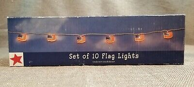 Sonoma 10 USA American Flag String Party Lights SetRedWhite Blue4th of July
