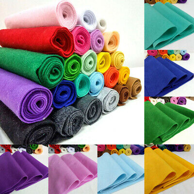 Soft Felt Fabric Metre 1-4mm Thick Non Woven Christmas DIY Craft Material Colors