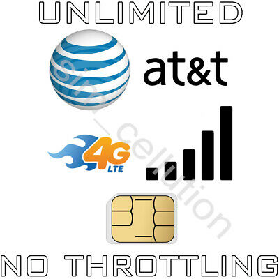 AT-T Unlimited Data 4G LTE for Hotspots Modems and Tablets iPad
