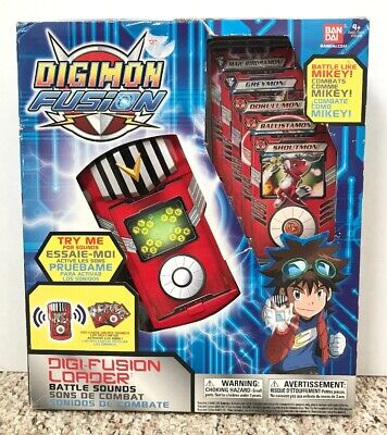 Bandai Digimon Fusion DigiFusion Loader Battle Sounds Mikey New Old Stock