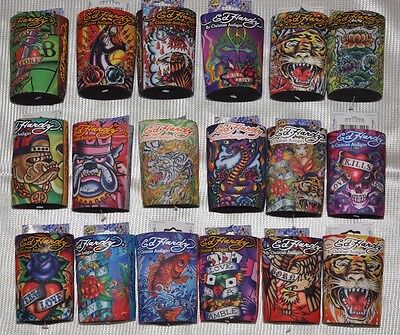 Ed Hardy Tattoo Can Cooler Beverage Neoprene Koozie Can Coolers select one -