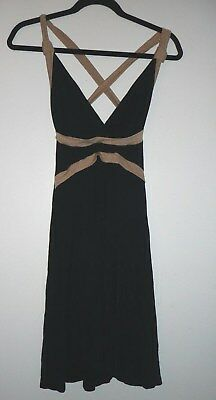 Wet Seal Womens Black and Gold Crossback Dress Size M