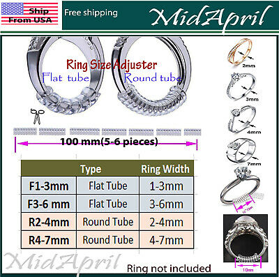 Ring Size Adjuster Invisible Clear Jewelry Fit Reducer Guard  US Small and Large