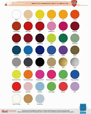 SISER HTV EasyWeed Heat Transfer Vinyl 15 x 1 and 15 x 3 Yards - ONE SCRAP