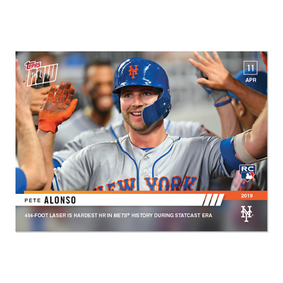 2019 Topps NOW 74 Pete Alonso RC New York Mets 4-11-19