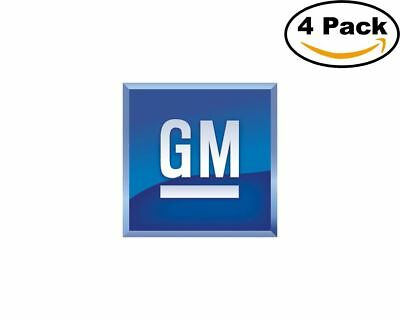 gm logo 4 Stickers 4x4 Inches Sticker Decal