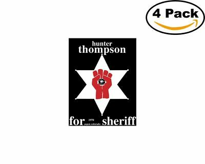 Hunter S Thompson 4 Stickers 4X4 inches Sticker Decal