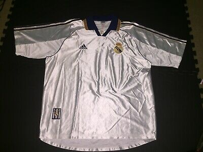 VINTAGE REAL MADRID HOME JERSEY 1998-2000 SIZE XLARGE ADULT