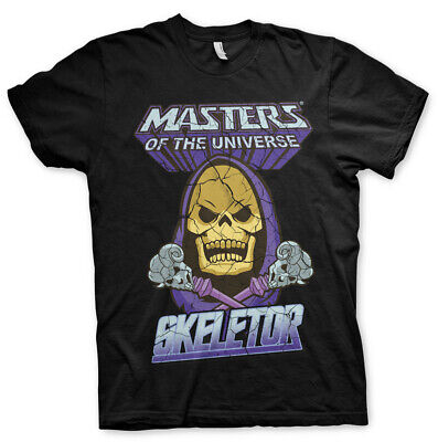 Skeletor Official He-Man Masters of the Universe Black Mens T-shirt