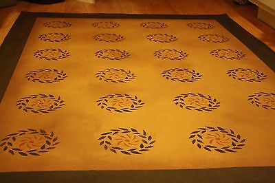 Beautiful primitive 30x6 floorcloth area rug- Cant beat the price