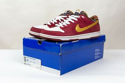 Nike Dunk Low Pro SB Anchorman Team Red Gold Size 13 Ron Burgundy 304292-672