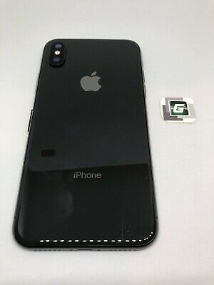 OEM 100 Space Grey Apple iPhone X full back housing frame rear chasis glass