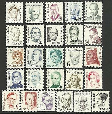 US 1844-69 Great Americans full set 26 stamps MNH