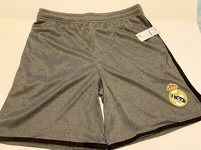 2017-18 Adidas Real Madrid Mens Home Soccer Jersey Shorts Size L And XL Grey