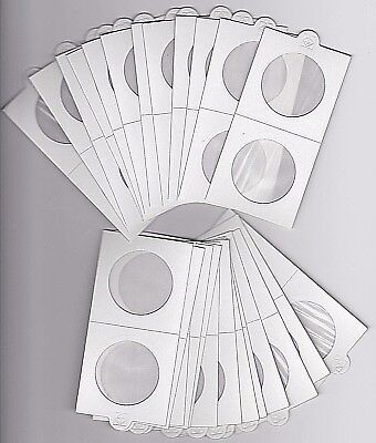 LIGHTHOUSE 35mm SELF ADHESIVE 2x 2 COIN HOLDERS x 25 - SUIT PENNY or 50CENT