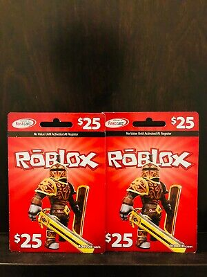 Roblox Gift Cards Physical Online 25 Dollar Value for Robux Fast Delivery