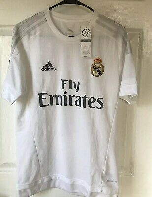 Adidas Fly Emirates Real Madrid Ronoldo 7 Jersey Mens Size Small New With Tags