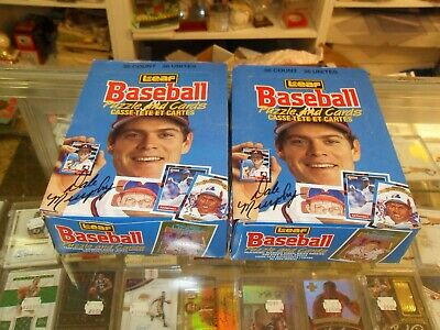 1988 DonrussLeaf Baseball Wax Box lot of 2 -36 Packs Each- Free Priority Ship