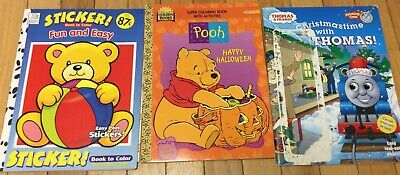 ASSORTED CHILDRENS COLORING BOOKS 2 -BUNDLE OF 3
