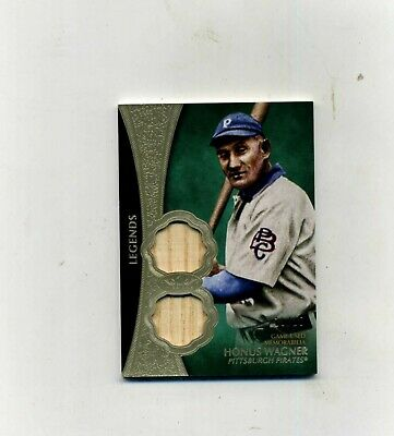 2019 Topps Tier One Honus Wagner Dual Game Used Bat Relic 1925