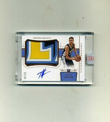 2017-18 Panini National Treasures Tyler Lydon  RPA PatchAutograph 0625