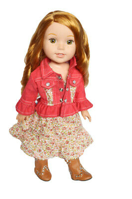 Country Cute Dress for Wellie Wisher Dolls