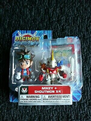 DIGIMON FUSION MIKEY - SHOUTMON X4 2-PACK BANDAI 2-5