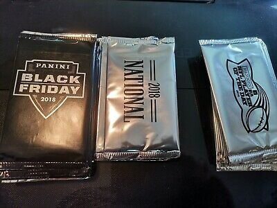 2018 7 Black Friday Multi-sport 5 National  10 NFL Player of the Day Packs