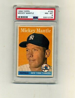 1958 Topps PSA 8 150 Mickey Mantle-CenteredSharp and Absolutely Beautiful