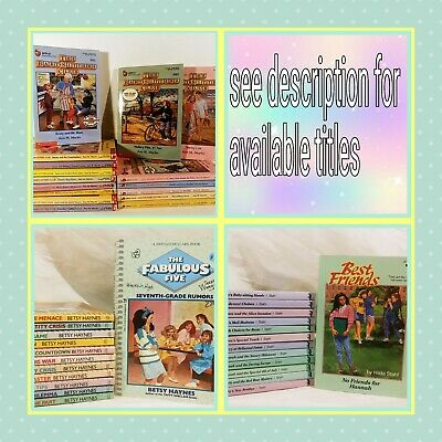 Babysitters Club Books  pick your 4 titles PLEASE READ DISCRIPTION