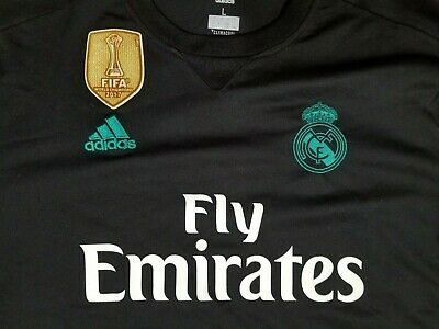 Real Madrid ClimaCool Adidas FIFA World Champions Mens Soccer Jersey Size Large
