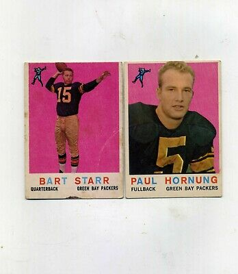 1959 Topps Football 23 Bart Starr and 82 Paul Hornung-Take Both Cards