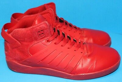 Men's SUPRA MUSKA 003 Skateboard Mid Top Athletic Shoes Red Size US 14