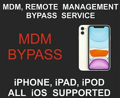 MDM Remote Management Bypass Remove unlock All iOS Supported iPhone iPad