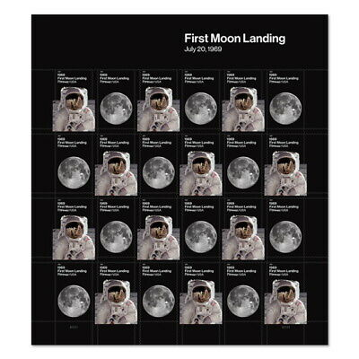 USPS New 1969  First Moon Landing Pane of 24