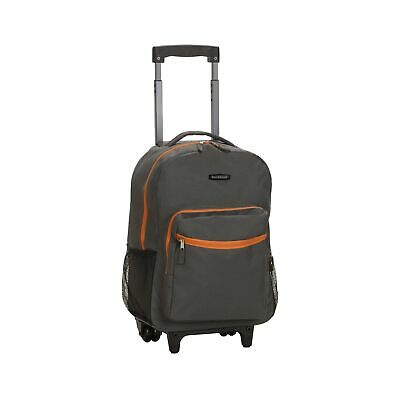 Rockland Luggage 17 Inch Rolling Backpack Charcoal One Size Expandable Wheels