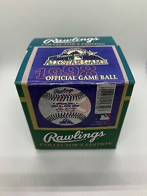 1998 Colorado Rockies All Star Game Official Rawlings Baseball New in Box