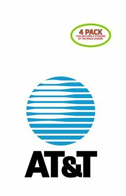 ATT AT-T Sticker Vinyl Decal 4 Pack 3x5 inches