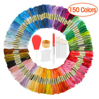 50-150 Cross Stitch Thread Embroidery Floss Sewing Skeins 100 Cotton Line
