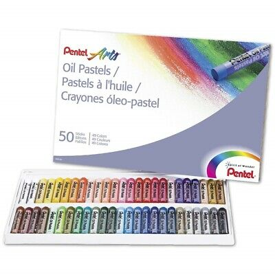 Oil Pastels Pack of 50 Assorted Colors School Art Drawing Pastels Set