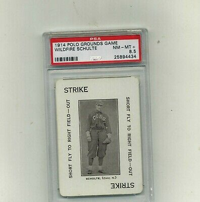 1914 Polo Grounds Game PSA 8-5 Wildfire Schulte-Beauty