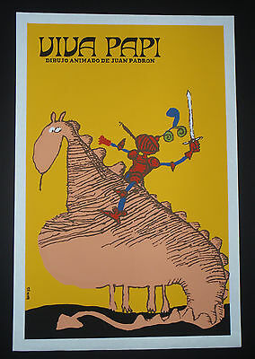 VIVA PAPI  Cuban Silk-screen Art Movie Poster by CUBA Famed Artist MUNOZ BACHS