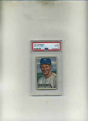 1951 Bowman PSA 2 1 Whitey Ford Rookie-Affordable-Very Presentable Card