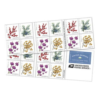 USPS New Winter Berries Booklet of 20