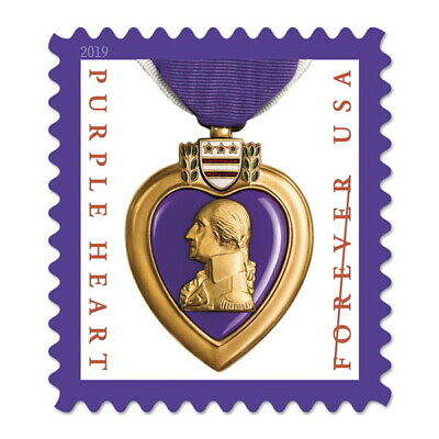 USPS New Purple Heart Medal 2019 Pane of 20