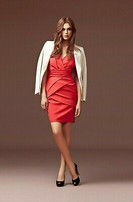 Stunning Reiss Lola bandage dress in red size 6 RRP £175-00  Kate Middleton