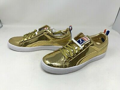 Mens Puma 360646 01 Clyde Gold Sneakers H38-39